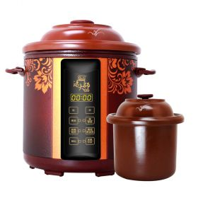 YILI TB63B38 Upgraded 3.8 Liter Purple Clay (Zisha) Insert Programmable Timer Multi-stew Slow Cooker