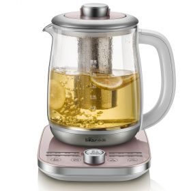 Bear YSH-A18C3 Multi-functional 1.8 Liter Intelligent High Borosilicate Glass herb Tea Kettle with Stainless Steel Infuser